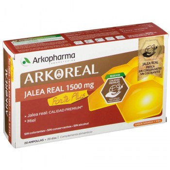 arkoreal jalea real 1500 mg forte plus 20 ampollas